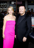 Jane Fallon and Ricky Gervais Stock Photo