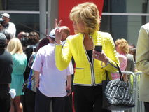 Jane Fonda. Is an American Actress.  This picture was taken on Hollywood Boulevard in Hollywood, California Stock Photos