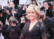 Jane Fonda asiste a la investigación fotografía de archivo