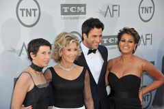 Jane Fonda et Troy Garity et Simone Bent et Vanessa Vadim Photos stock