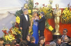 Jane Fonda and Ted Turner at 62nd Annual Academy Awards, Los Angeles, California Royalty Free Stock Image