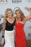 Jane Fonda y Denise Austin Fotografía de archivo libre de regalías