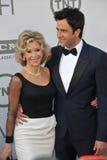 Jane Fonda y Troy Garity Imágenes de archivo libres de regalías