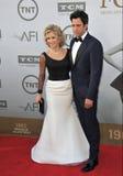 Jane Fonda y Troy Garity Imagenes de archivo