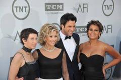 Jane Fonda y Troy Garity y Simone Bent y Vanessa Vadim Fotos de archivo