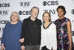 Jane Houdyshell, Chris Cooper, Laurie Metcalf och Condola Rashad Royaltyfri Foto
