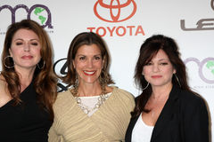 Jane Leeves, Valerie Bertinelli, Wendie Malick. LOS ANGELES - OCT 15: Jane Leeves, Wendie Malick, Valerie Bertinelli arriving at the 2011 Environmental Media stock photography