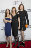 Jane Rosenthal And Daughters Photographie stock