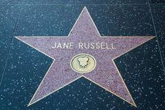 Jane Russell Hollywood Star arkivfoton