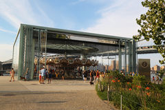 Jane's carousel in Brooklyn Bridge Park Stock Photo