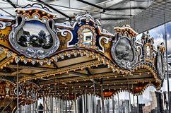 Jane's Carousel restored to its original beauty and to be found Stock Photo