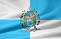 janeiro Ρίο de flag Στοκ Εικόνα