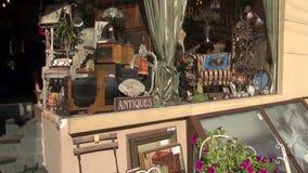Janela antiga do mercado na cidade velha filme
