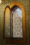 Janela antiga em Mohammed Ali Palace - o Cairo, Egito Imagem de Stock