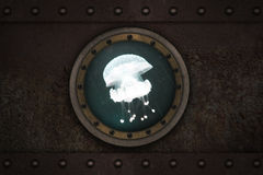 Janela blindada submarina Foto de Stock Royalty Free