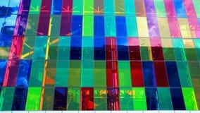 Janela colorida de uma construção ilustração stock