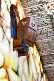 janela Coração-dada forma Fotografia de Stock Royalty Free
