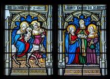 A janela da igreja Foto de Stock Royalty Free