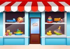 Janela da loja dos brinquedos ilustração do vetor