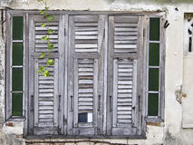 Janela da madeira do abandono Foto de Stock