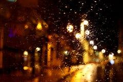 Janela A da noite da cidade Foto de Stock Royalty Free
