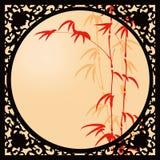 Janela de bambu ilustração stock