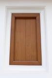 Janela de madeira Imagem de Stock