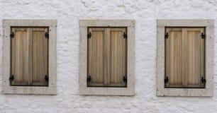 Janela de madeira Fotografia de Stock Royalty Free