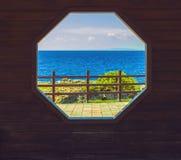 Janela de madeira Fotos de Stock