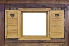 Janela de madeira de Challet Imagens de Stock