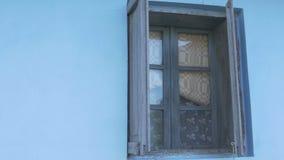 Janela de madeira do vintage do quadro filme