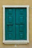 Janela de madeira fechado do vintage Imagens de Stock Royalty Free