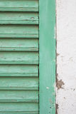 Janela de madeira mediterrânea Imagens de Stock Royalty Free
