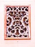 Janela de madeira tradicional chinesa dos carvings Imagem de Stock Royalty Free