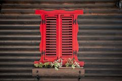 Janela de madeira velha Fotografia de Stock