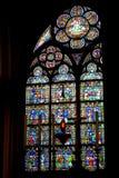 Janela de Notre Dame fotografia de stock royalty free