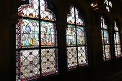 Janela de Notre Dame em Paris foto de stock royalty free