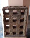 Janela de pedra antiga no palácio do maratha do thanjavur Imagem de Stock