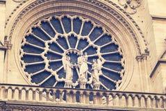 Janela de Rosa em Notre Dame Paris Imagens de Stock