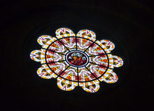 Janela de Rosa em Sacre Coeur, Paris Fotos de Stock Royalty Free