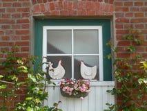 Janela de uma casa da quinta velha Fotos de Stock