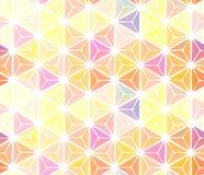 Janela de vidro colorido abstrata sem emenda com vidros coloridos Fotografia de Stock Royalty Free
