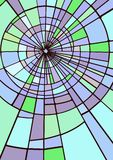 Janela de vidro colorido, fundo abstrato ilustração stock