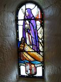 Janela de vidro com Columba de Saint imagem de stock royalty free