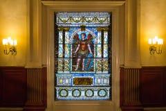 Janela de vidro da mancha na liga da união Imagens de Stock Royalty Free