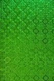 Janela de vidro da mancha tailandesa verde Imagem de Stock Royalty Free
