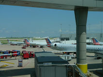Janela de visão de Dallas Fort Worth Airport Imagem de Stock Royalty Free