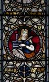 Janela de vitral da catedral de Christchurch Fotografia de Stock