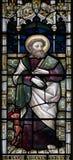 Janela de vitral da catedral de Christchurch Fotos de Stock Royalty Free
