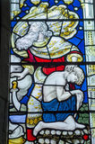 Janela de vitral de Abraham e de Isaac Imagem de Stock